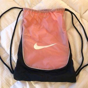 Nike   Pink Drawstring Gym Sack Bag with Logo